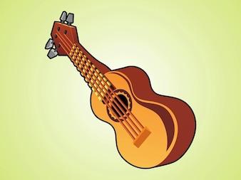 Ukelele musical instrument logo vector