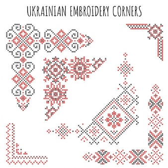 Ukrainian embroidery corners
