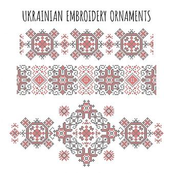 Ukrainian embroidery ornaments