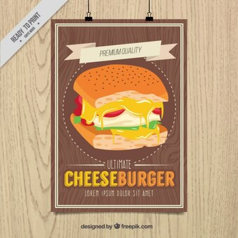 Ultimate cheeseburguer poster