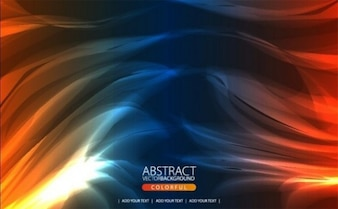 ultimate flaming colors background vector