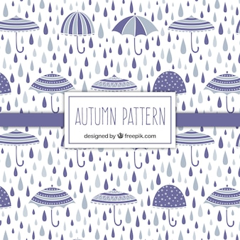 Umbrella and rain pattern