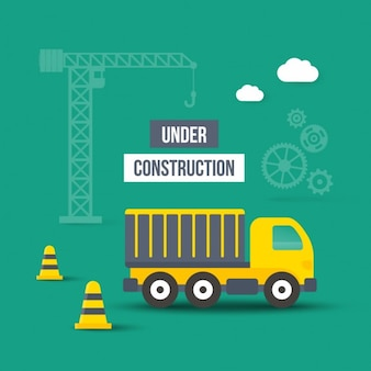 Under construction cartoon web elements