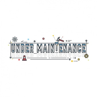 under maintenance  design