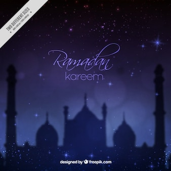 Unfocused night ramadan background