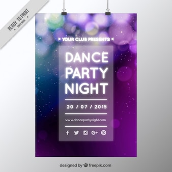 Unfocused party poster with bokeh effect
