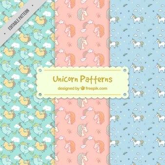 Unicorn pattern set
