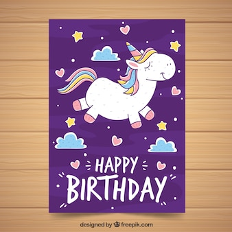 Unicorn poster template