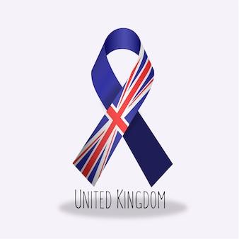 United kingdom flag ribbon design