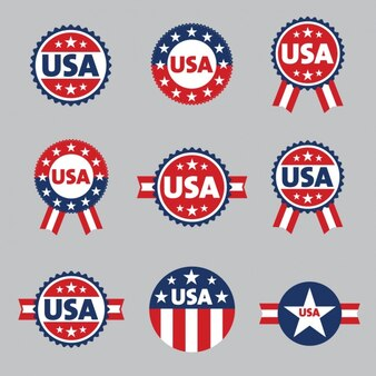 United states badges