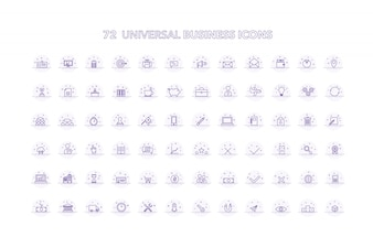 Universal business icons collectio