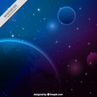 Universe blue background
