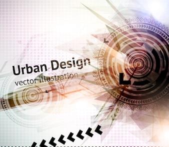都市のビジネストレンド抽象化プレゼンテーション