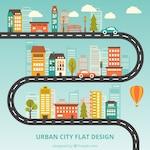 Urban city flat design