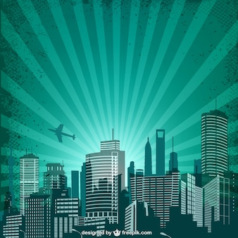 Urban vector retro background