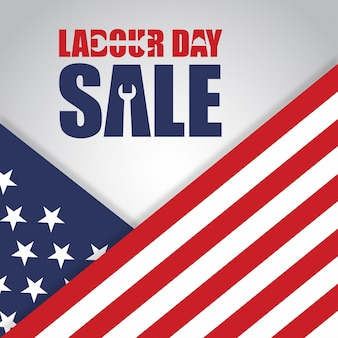 Us labor day sale illustration