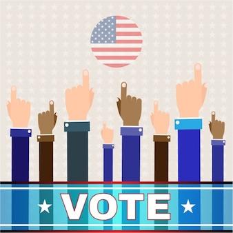 Usa election background design