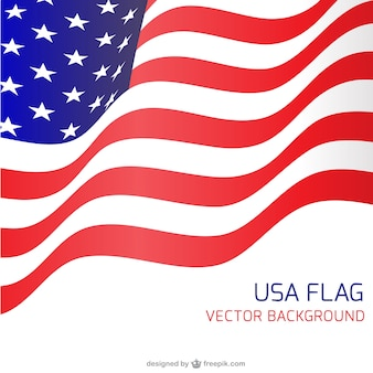 USA flag waving backgound