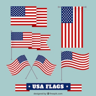 Usa flags collection