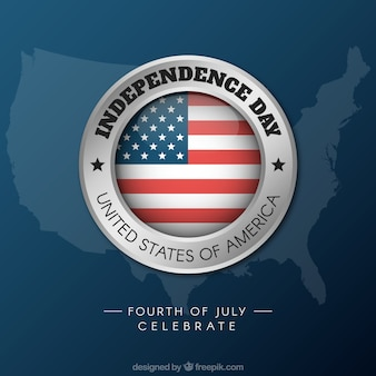 Usa independence day background with logo