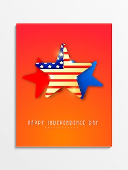 Usa independence day background with stars