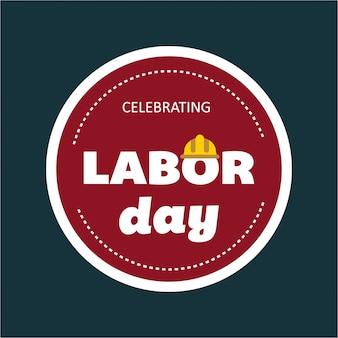 Usa labor day badge design