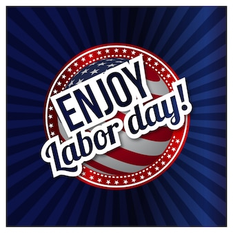 Usa labor day design in vintage style