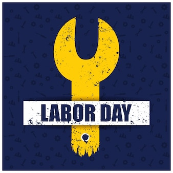 Usa labor day design with yellow wrench