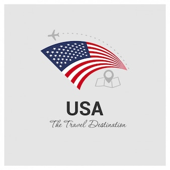 USA Travel Destination Illustration