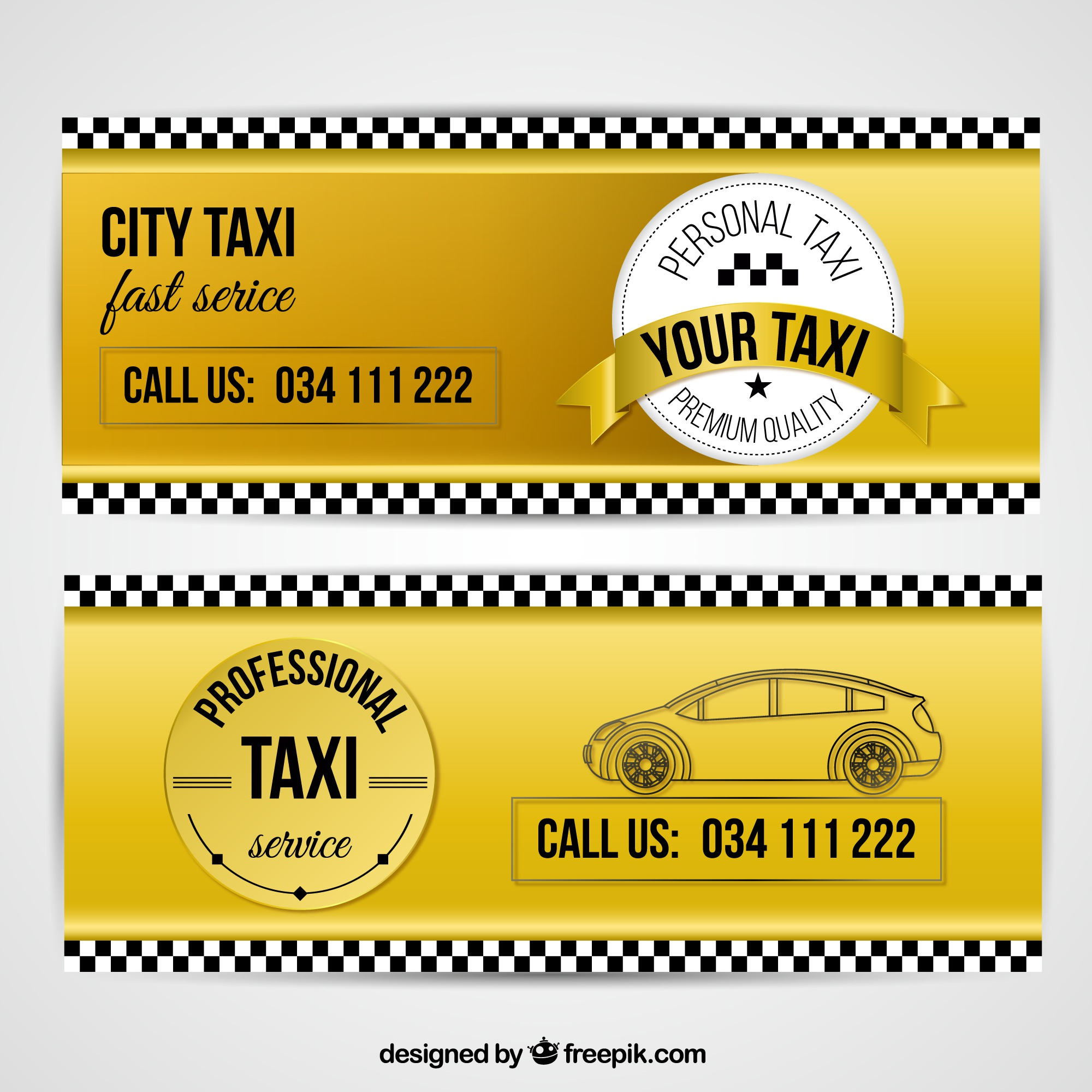 Useful banners for taxi services