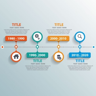 Useful timeline with colorful options