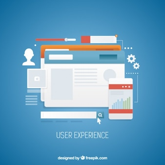 User experience with web design elements