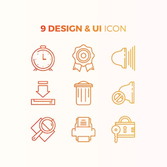 User interface icon collection