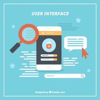 User interface in flat design