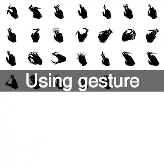 Using gesture icons collection
