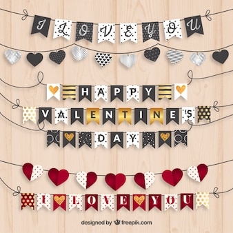 Valentine bunting collection