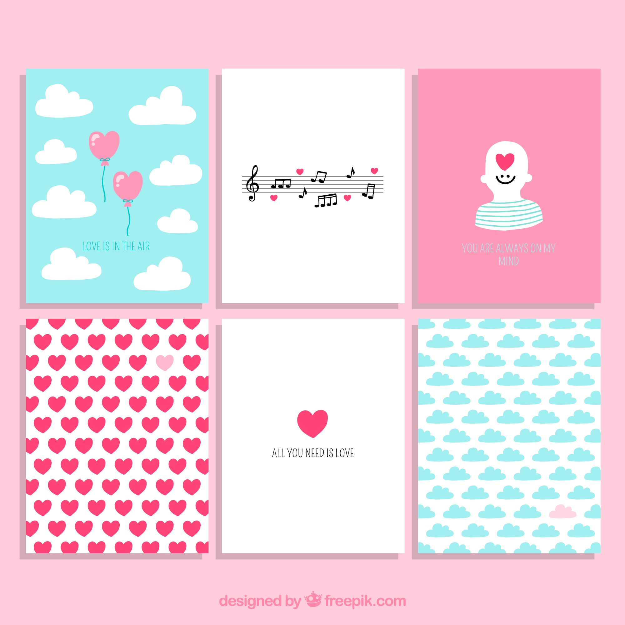 Valentine Day Cute Cards Collection