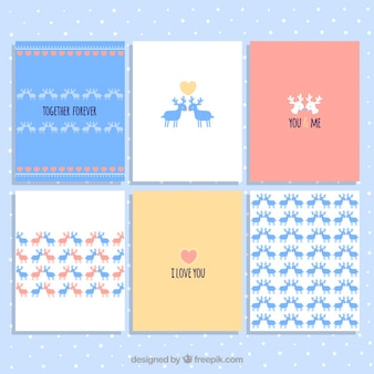 Valentine Day Deer Cards Collection