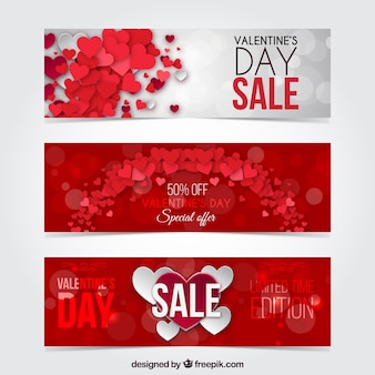 Valentine day discount banners pack