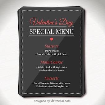 Valentine day elegant special menu template