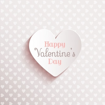 Valentine day on a cute white background