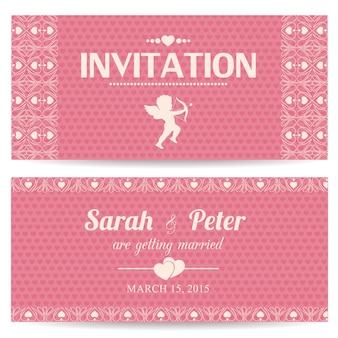 Valentine day romantic invitation card or postcard vector illustration