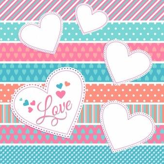 Valentine labels on patterns