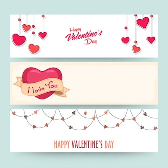 Valentine's banners collection