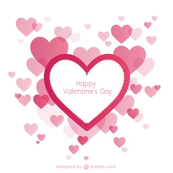 Valentine's card with hearts