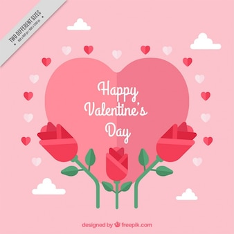 Valentine's day background with beautiful flowers