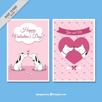 Valentine's day cards of loving dogs