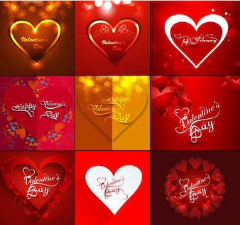 valentine's day heart collection
