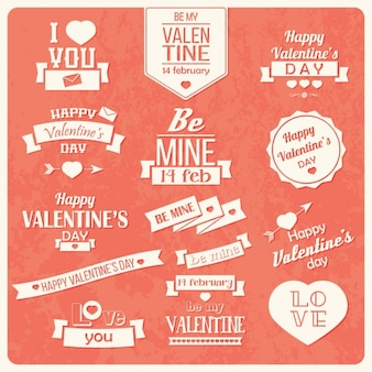 Valentine's day labels collection