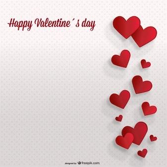 Valentine's Day Retro Dots Background Card Design